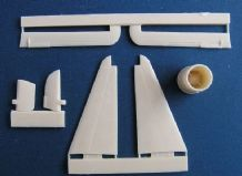 Pavla U48023 1/48 Resin Trumpeter Grumman F9F-2 rudder, elevators and jet pipes